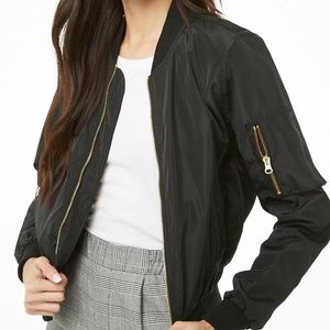 Forever 21 bomber jacket zip up